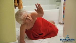 Bentley Baths Safety - Fallen Lady in Bathroom