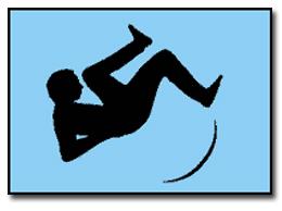 Man falling cartoon
